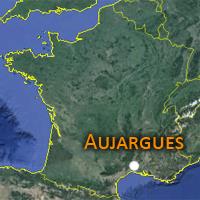 localisation Aujargues