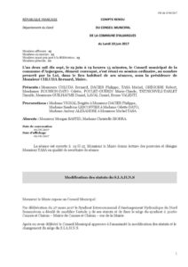 Compte-rendu du Conseil Municipal du 19juin2017