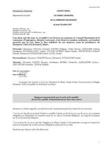 Compte-rendu du Conseil Municipal du 20juillet2017