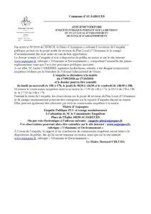 Annonce ouverture d'enquête Publique – Révision PLU et zonage assainissement AUJARGUES