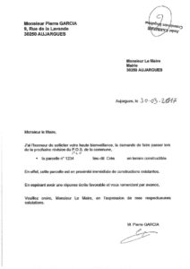 Observation n°2 - Courrier de M. Garcia (pdf)