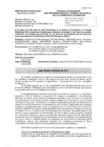 Délibération d'approbation de la révision du PLU - 03/12/2018