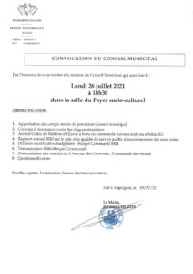 thumbnail of Convocation CM 26 Juillet 2021