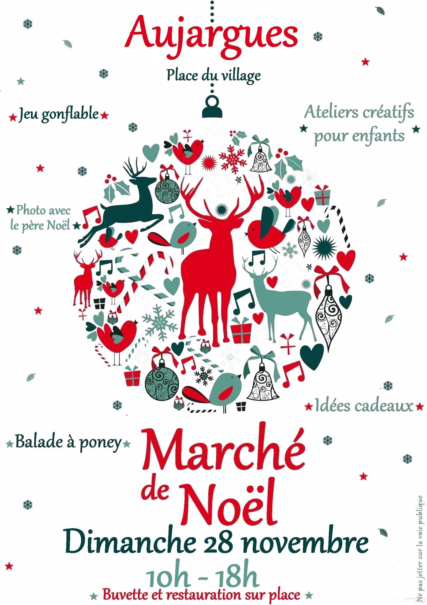 Affiche marché de Noel